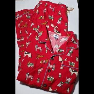 Old Navy 2 Piece Christmas Dog Pajama Set